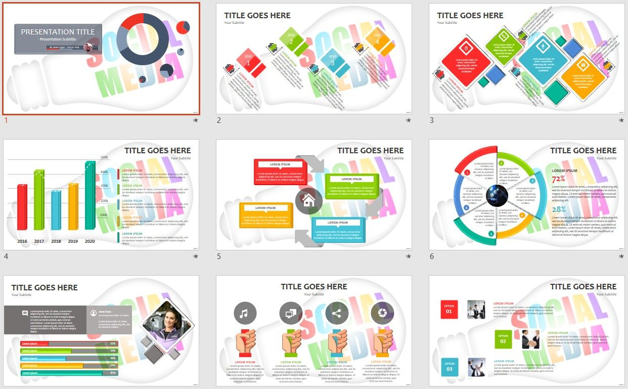 Free Social Media PowerPoint Template - Free social media powerpoint templates