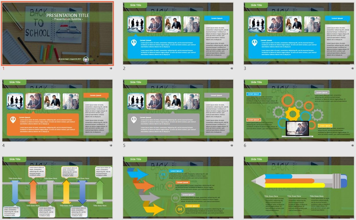 Free back to school powerpoint template 2436 by powerpointadmin toneelgroepblik Image collections