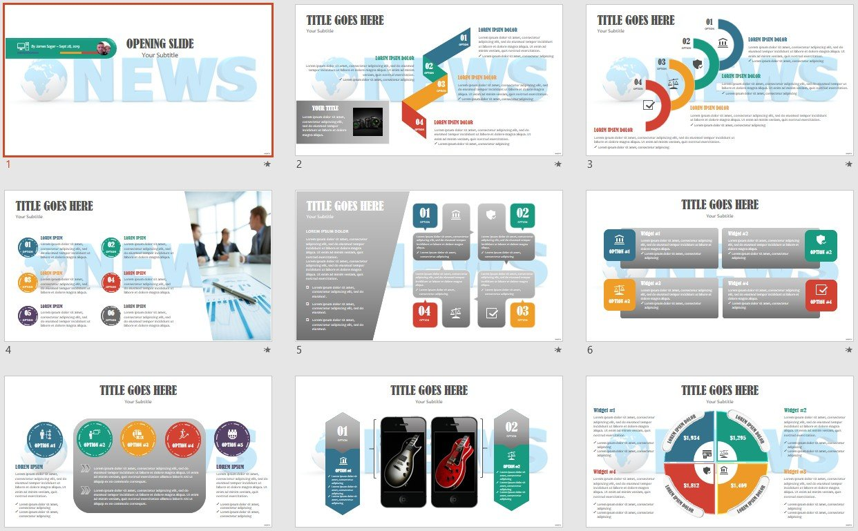 Powerpoint Free Com Free Powerpoint Templates News Powerpoint